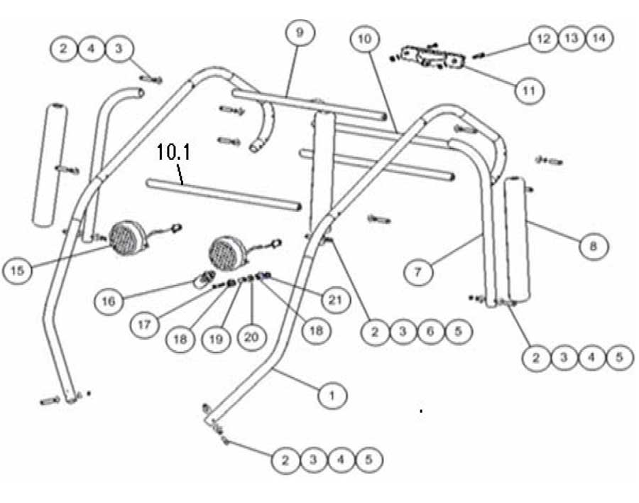 Brush Guard_5 baja dune 150 brush guard baja dune 150 baja motorsports baja dune 150 wiring diagram at aneh.co