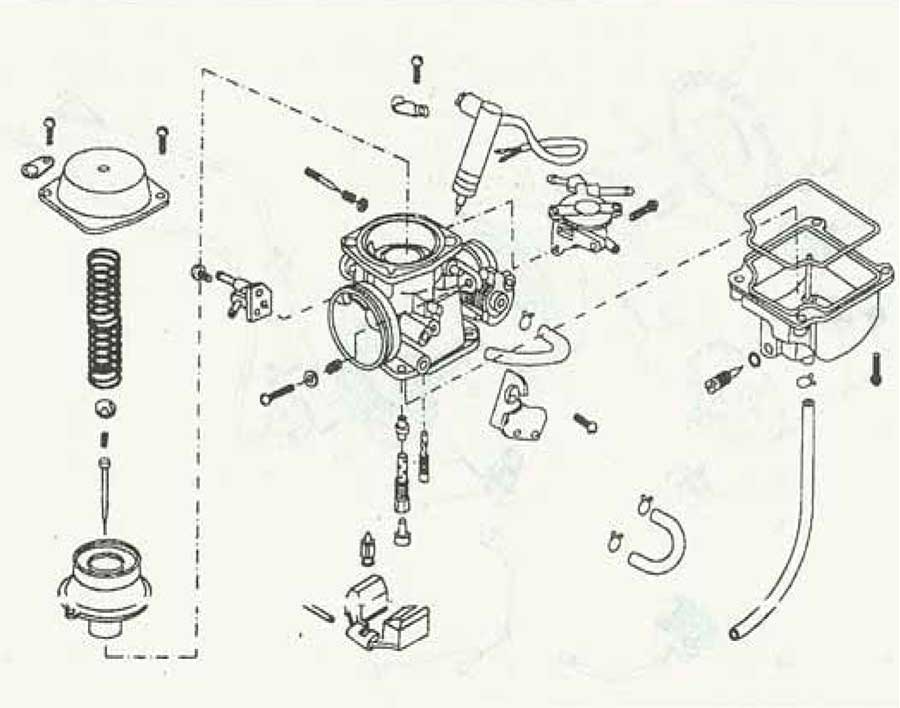 honda rebel 250 carburetor diagram
