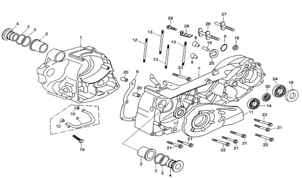Baja 250 Engine Diagram Wiring Library Reaction Crankcase