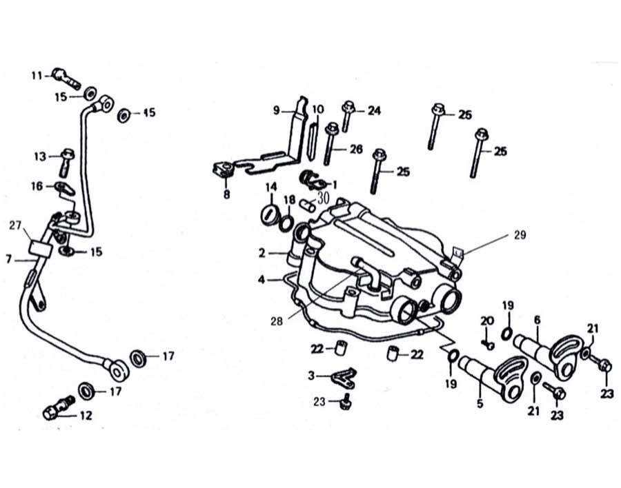 250cc Scooter Engine Parts Diagram