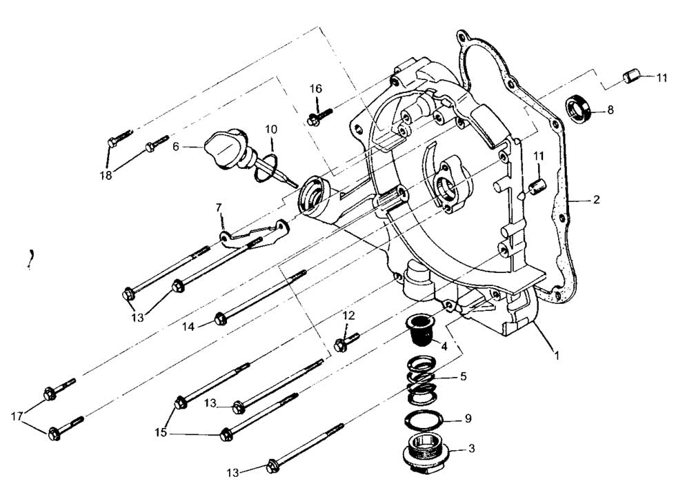 Hammerhead 150cc Right Crankcase Assembly