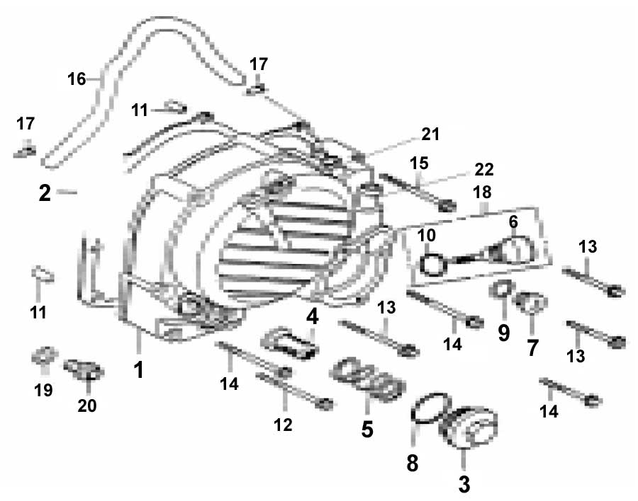 Baja - Dune 250 - Right Crankcase Cover