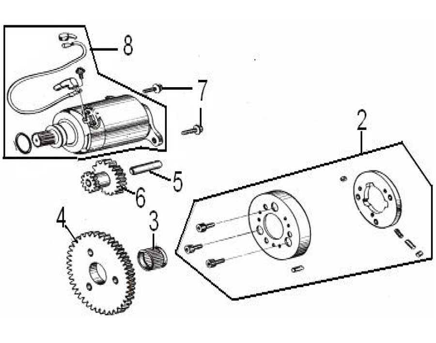 Baja - Reaction 150 - 2-Seater - Starter Motor