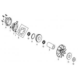 Hammerhead 250cc - Front Clutch Assembly