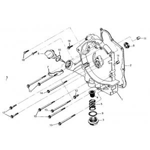 GY6 150cc Right Crankcase Assembly