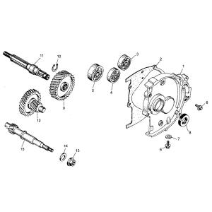GY6 150cc Transmission Assembly
