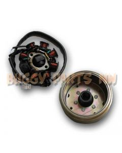 8-Pole Stator with Flywheel for GY6 125/150cc