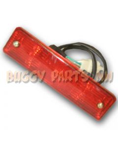 Red Rectangle Tail Light Assembly